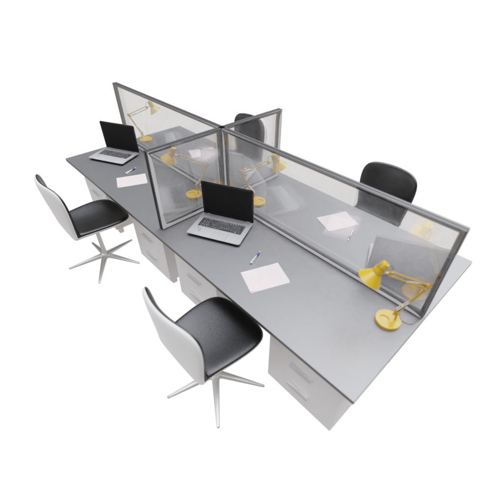Desk screen – transparent or with graphics